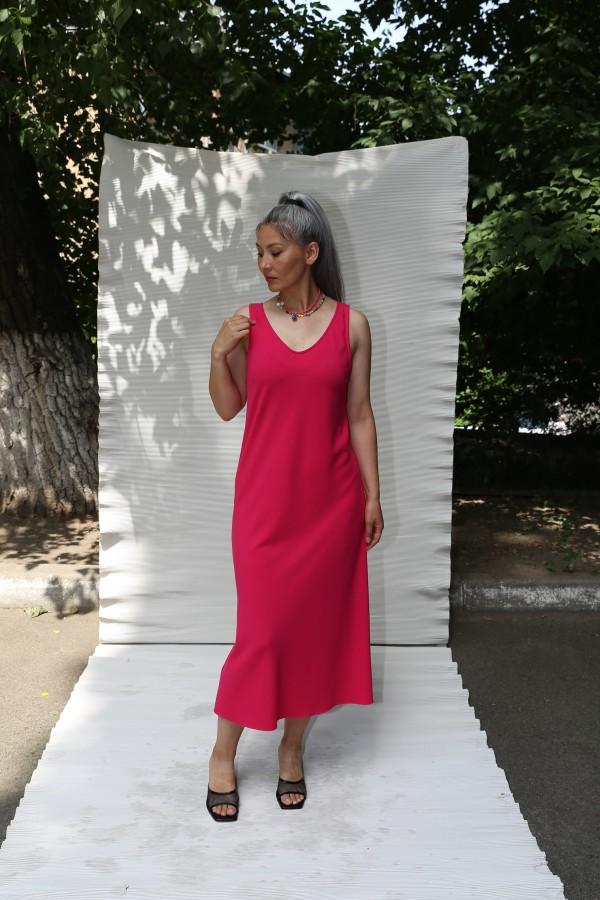 Платье майка розовое