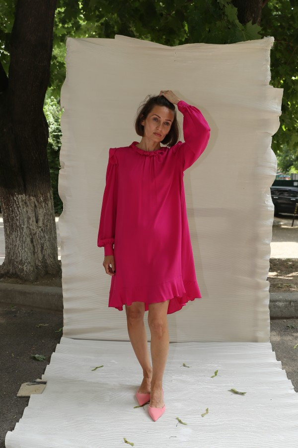 "Платье короткое розовое ""Z"""