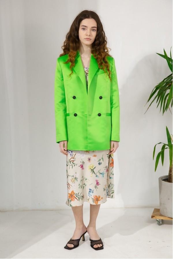 Пиджак ярко-зеленый