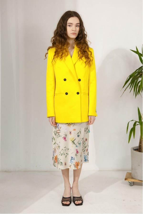 Пиджак ярко-желтый