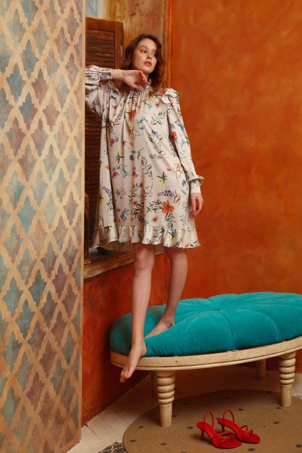 Платье цветочное мини