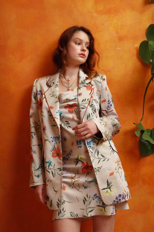Пиджак цветочный