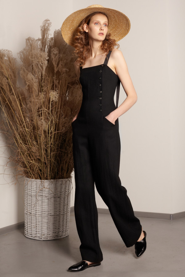Black one-piece suit