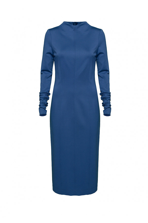 Dress pencil blue