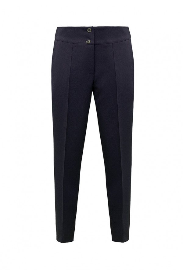 Wool dark-blue trousers