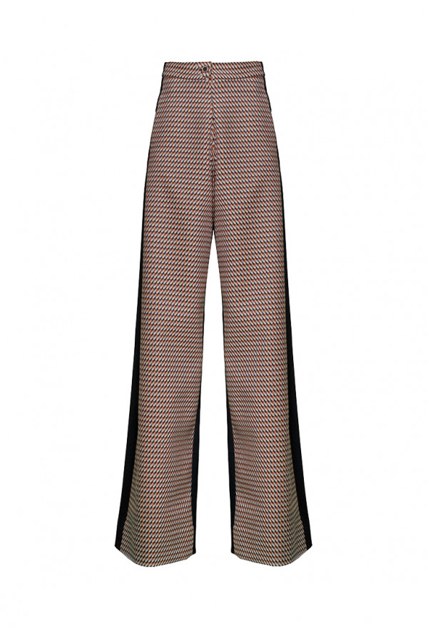 Jersey wide leg trousers