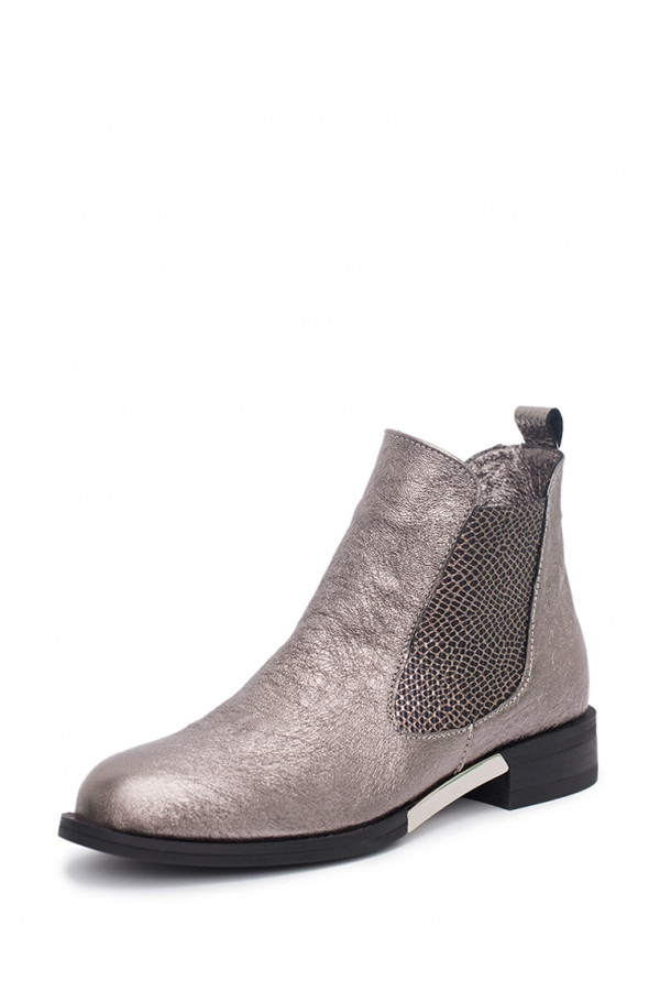 Ankleboots silver